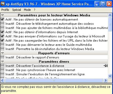 XP anti-spy