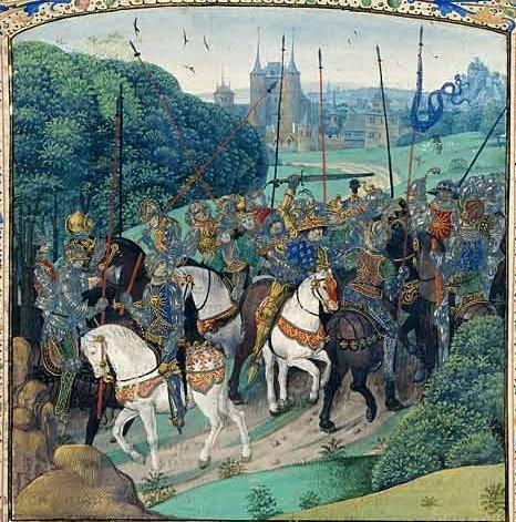 Folie de Charles VI, Jean Froissart : Chroniques, enluminées par Antoine de Bourgogne, XVe s.