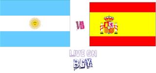 مشاهده مباراه اسبانيا والارجنتين الوديه مباشر