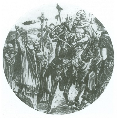 le saint pape Leon 1er de Rome fait face au roi Hun Attila