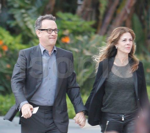 tom hanks wife and kids. Tom Hanks and wife Rita Wilson