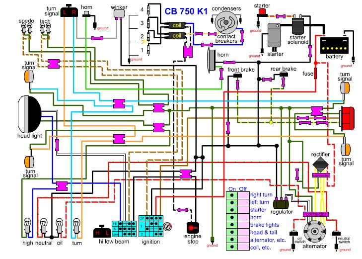 T4145 Schema Electrique Cb750 K2 on triumph chopper wiring diagram