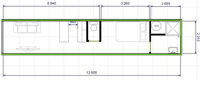 Ma premi re id e d 39 amenagement for Plan amenagement container habitable