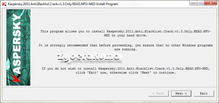 Kaspersky 2010 & 2011 Anti-Blacklist Patch v1.3 by ElCrabe & Team NKD