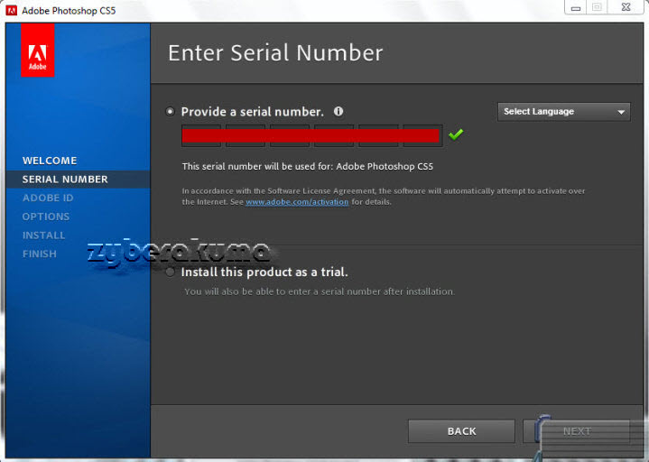 serial number of photoshop cs5