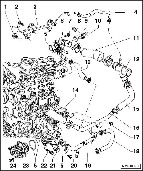 schema circuit refroidissement ford mondeo