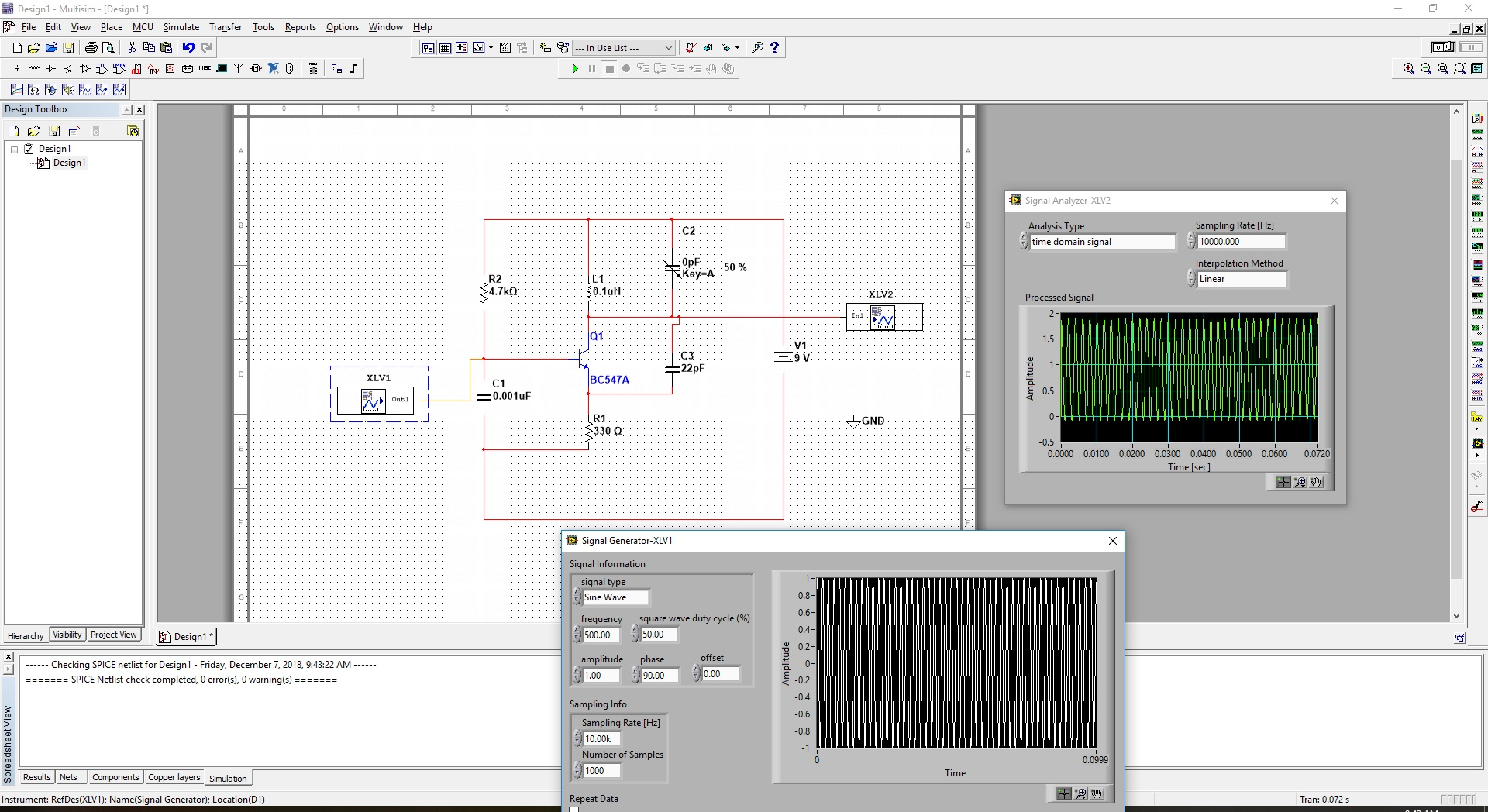 Analog Fm Transmitter Circuit Range 3 Km On Multisim Any Ideas How To Edit Or Fix The Above Have This Output Is Similar What It Should Be Design Modulation