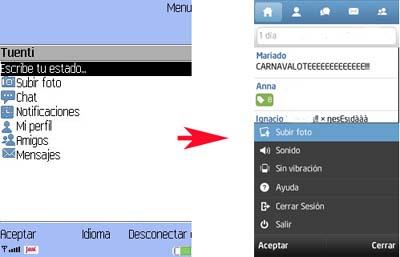 Aplicación de Tuenti para Symbian 3