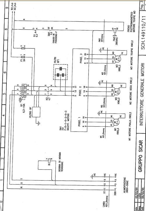 terre - 3 fils noirs  1 terre pour un moteur mono