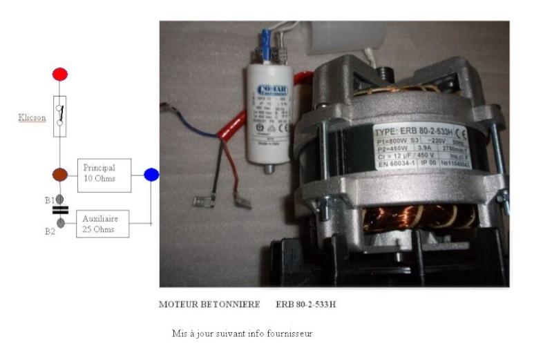 branchement moteur lectrique monophase de betonniere. Black Bedroom Furniture Sets. Home Design Ideas