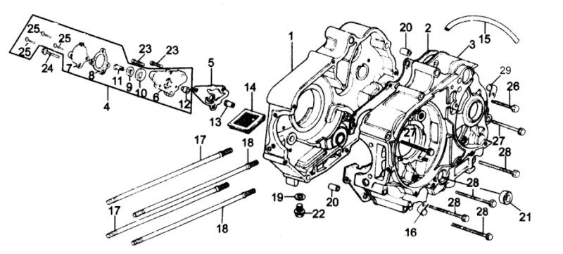Vue eclater moteur lifan - Vue eclatee moteur ...