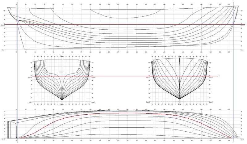 Geometria delle carene for Piani di costruzione del negozio
