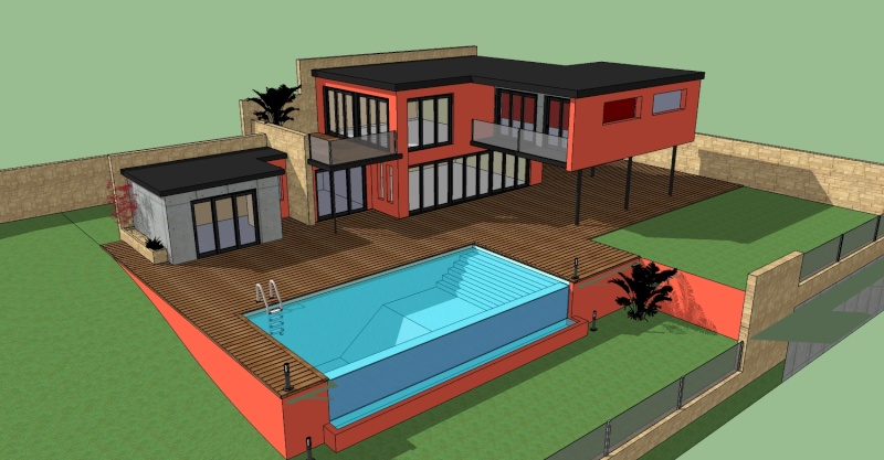 Challenge archi ext rieure nicolaco sketchup for Plan maison google sketchup