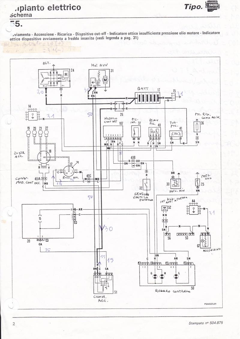 Schema Elettrico Fiat F Serie : Schem elettrico fiat tipo a carburatore