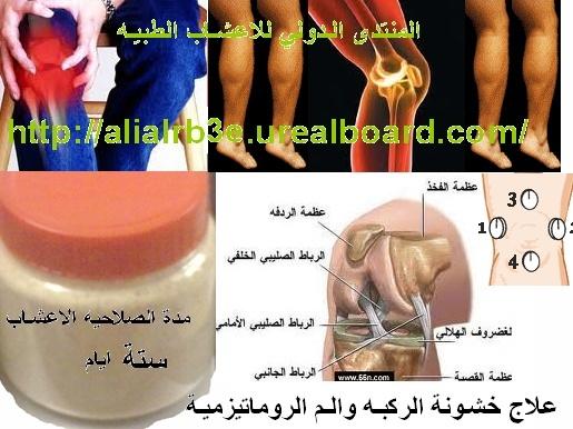 علاج خشونة الركبه والم الروماتيزمية في الاعشاب وطريقة العلاج لعلاج