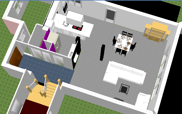 Une page blanche pour salon salle manger cuisine et wc for Cuisine avec poteau au milieu