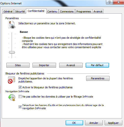 Probleme d apparence sous internet explorer 8 for Probleme ouverture fenetre internet explorer