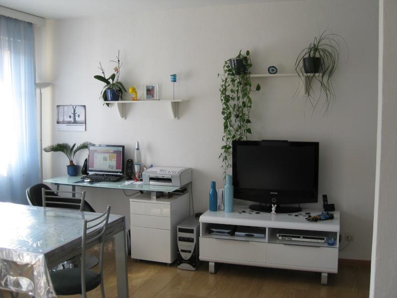 Retouches peinture de mon salon blanc bleu - Retouche peinture mur ...