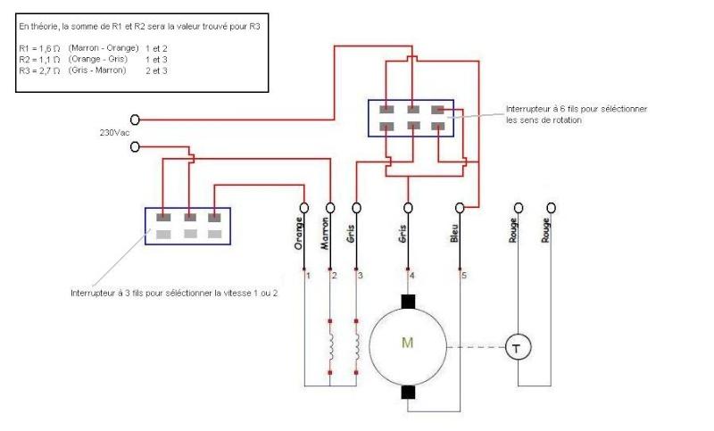 schema moteur lave linge