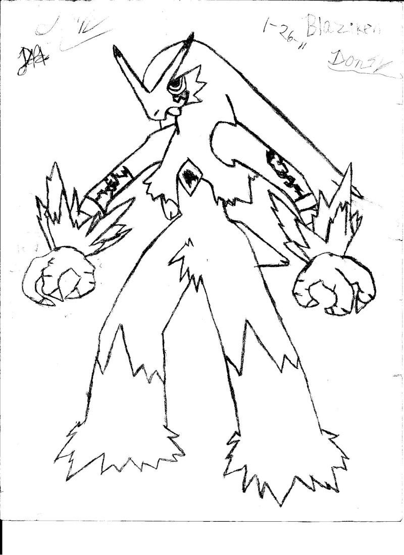 coloring pages blaziken - photo#17