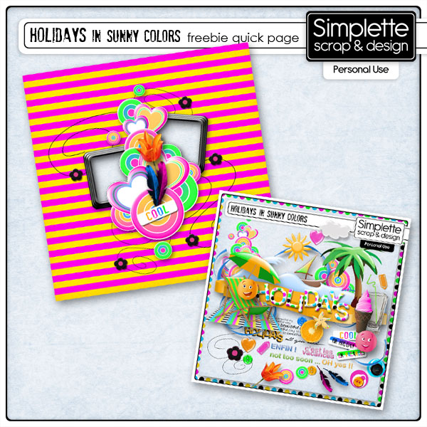 freebie holidays in sunny colors simplette