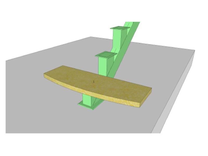 Escalier mono poutre bois et metal - Support plan de travail ...